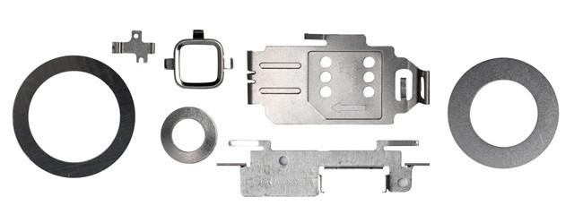 軸承壓圈、波形介子、梅花拳、E行扣環、黃銅止位圈、彈片、平墊片、止擋片