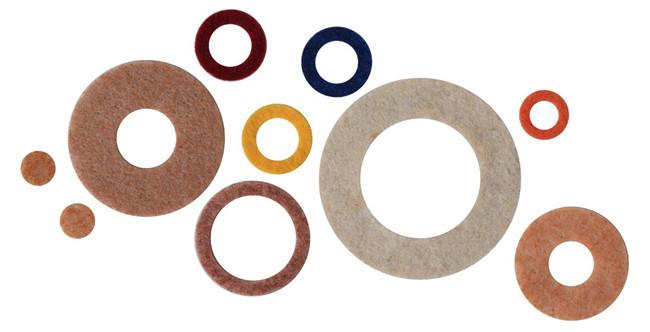 羊毛氈墊圈、油封、羊毛合成纖維墊圈、植物纖維墊圈、消音墊片、減震墊片