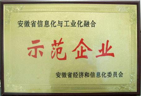 安徽省信息化與工業化融合示范企業